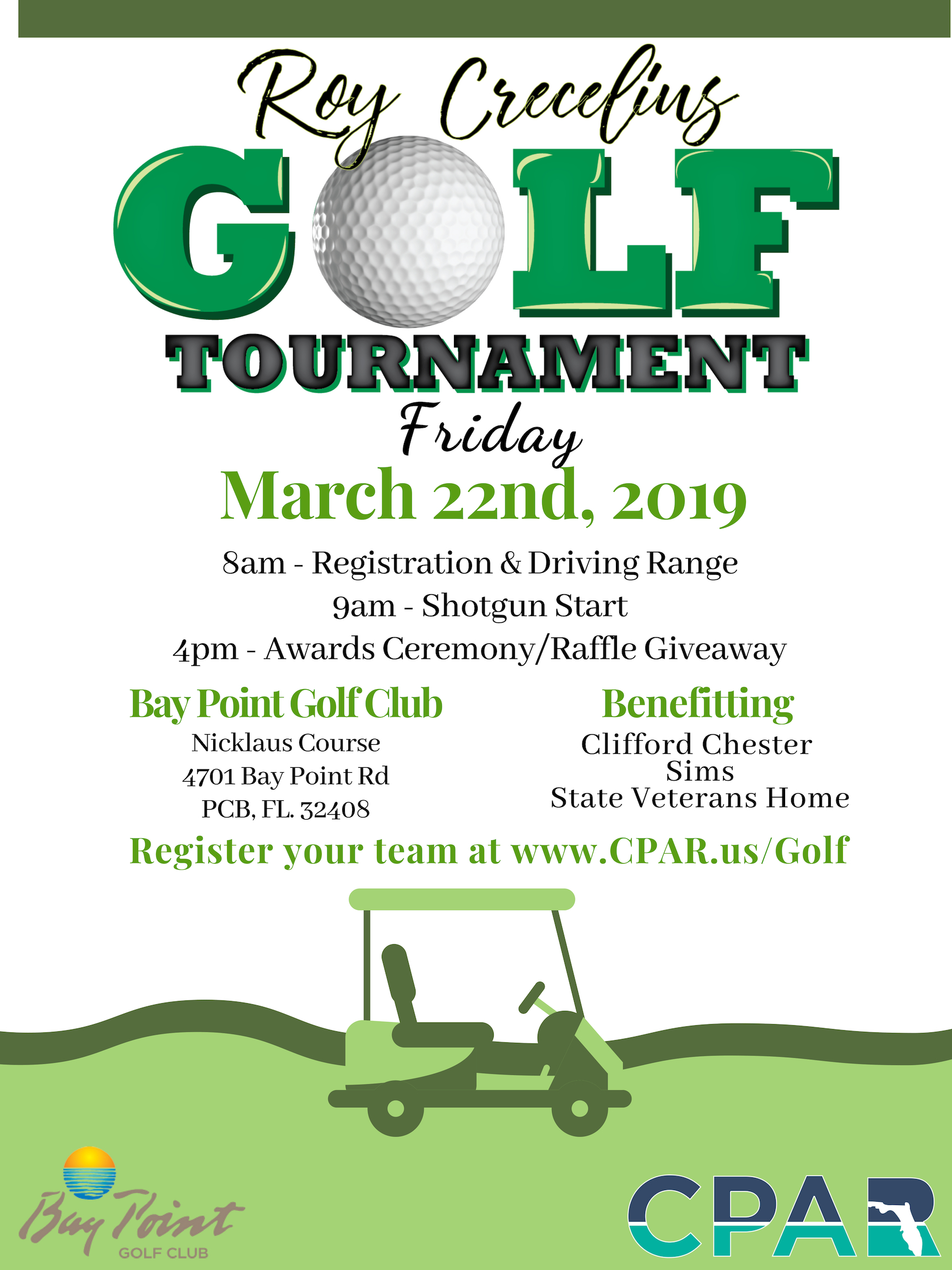 Roy Crecelius Charity Golf Tournament | Central Panhandle